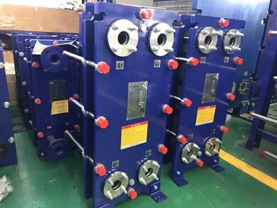 运输和放置板式换热器
