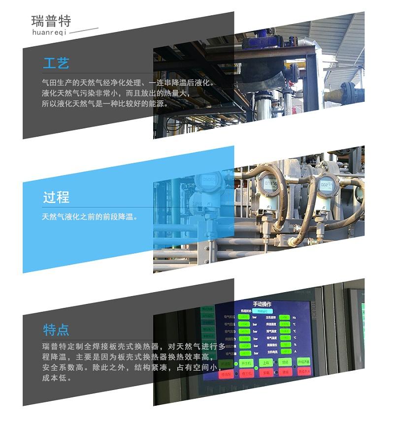 瑞普特天然气板壳式换热器